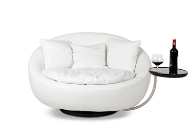 Alba Modern White Leatherette Leisure Chair