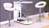 Modern Bar Stand in White