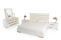 Nova Domus Juliet Italian Modern White & Rosegold Nightstand by VIG Furniture MADE IN ITALY