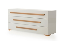 Nova Domus Juliet Italian Modern White & Rosegold Dresser by VIG Furniture MADE IN ITALY