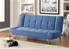 Modern Velvet Sofa Bed in Blue