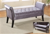 Neo-Classical Love Bench in Silver/Grey