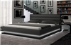 Brooklyn Black Eco-Leather Queen Size Bed w/LED