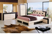Modrest Concorde Modern 6 Drawer Platform Queen Size Bed by VIG Furniture