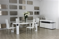 Modrest Escape White Glossy Table by VIG Furniture