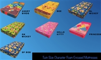 Twin Size Character Foam Embossed Mattresses