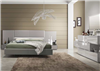 Leon Glossy Grey Bed w/LED