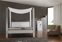 Lias White Queen Size Bed