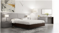 Motril Grey Glossy Bed w/LED lights
