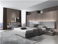 Paris Glossy Grey Bed