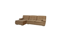 Schengen Beige Fabric Modern Transitional Sectional w/Pull-Out Bed