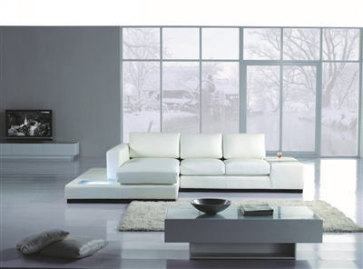 Divani Casa T35 Mini Leather Sectional by VIG Furniture