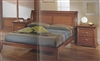 Mary Mid-Century King Size Walnut Bed MADE IN ITALY