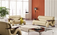 Divani Casa 2033 - Beige Modern Leather Sofa Set by VIG Furniture