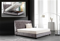 Modrest Dane Transitional Tufted Fabric Bed with Lift Storage by VIG Furniture