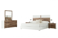 Nova Domus Giovanna Italian Modern White & Cherry Bedroom Set by VIG Furniture MADE IN ITALY
