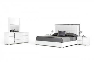 Modrest San Marino Modern White Bedroom Set by VIG Furniture MADE IN ITALY