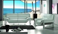 Divani Casa New York White Modern Genuine Leather Sofa by VIG Furniture
