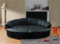 Divani Casa Modern Black Leather Circular Sectional Sofa - Circle by VIG Furniture