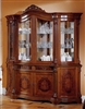 Regina Walnut 4-Door China Cabinet Made In Italy