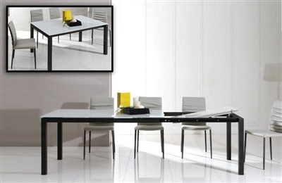 Modrest Commix - Modern Extendable Glass Dining Table