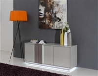 VERTIGO MODERN GREY LED LIT BUFFET