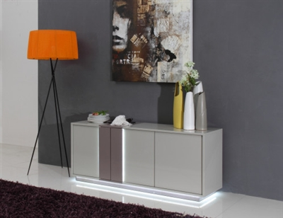 Modrest Vertigo Modern Grey LED Buffet by VIG Furniture