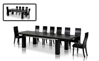 Maxi Modern Dark Oak Dining Table