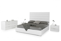 Modrest Kasia Modern White Leatherette Bed