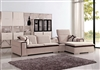 Divani Casa Harding Modern Beige Fabric Sectional Sofa by VIG Furniture