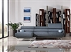 Divani Casa Pierce Mid-Century Blue/Grey Fabric Sectional Sofa