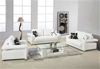 Divani Casa 2926 White Leather Sofa Set by VIG Furniture