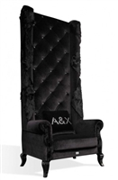 Armani Xavira A&X Casa Luxury Baron Transitional High Lobby Chair with Crystals by VIG Furniture