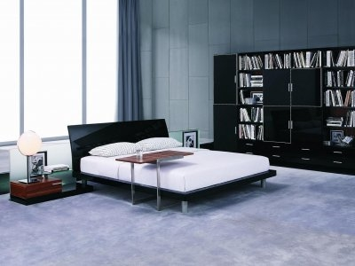 Aron Contemporary Bed Black