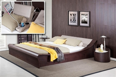 Modrest Geneva Contemporary Brown Oak & Grey Bedroom Set by VIG Furniture