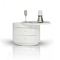 Symphony White Nightstand