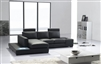 Divani Casa T35 Mini Modern Black Leather Sectional Sofa by VIG Furniture