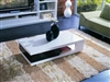 5010C - Modern White and Black Coffee Table