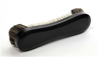 "Black 10 1/2"" Horsehair Table Brush"