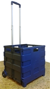Large Folding Cart - Blue/Grey