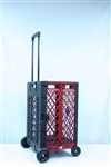 Black and Red Folding Basket Cart