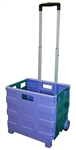 Large Folding Cart - Purple and Teal