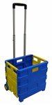 Blue and Yellow Small Plastic Cart