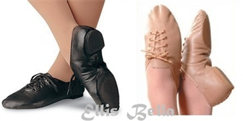 lace up jazz shoes -- eve sole -- black colour