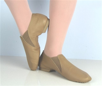 Slip on Jazz Booties Tan -- Eve sole