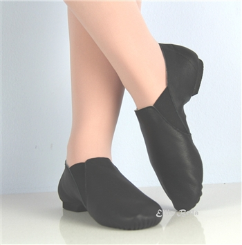 Slip on Jazz Booties Black -- Eve sole