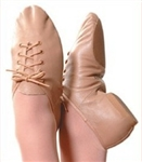 lace up jazz shoes -- eve sole -- Tan colour