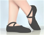 Canvas ballet shoes Black
