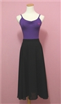 Black long chiffon full skirts for RAD