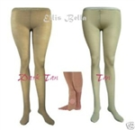 Dark tan convertible dance tights